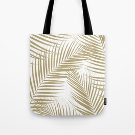 Palm Leaves - Gold Cali Vibes #1 #tropical #decor #art #society6 Tote Bag