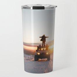 A Landy in the Landscape of Iceland Travel Mug