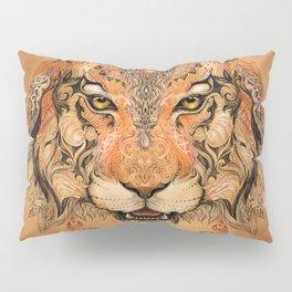 Indian Tiger Tattoo Pillow Sham