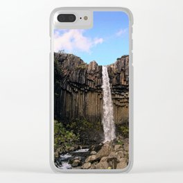 Svartifoss Waterfall, Skaftafell, Vatnajökull National Park, Iceland (2) Clear iPhone Case