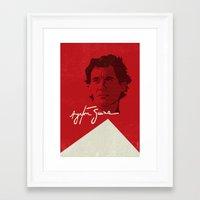 senna Framed Art Prints featuring Ayrton Senna by Diego Maricato