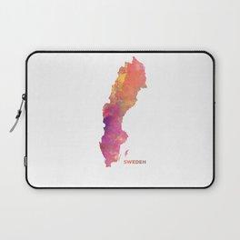 Sweden map #sweden #map Laptop Sleeve