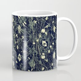 Dark Floral Collage Pattern Coffee Mug