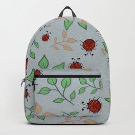 Lady Bug Leaf Pattern Art Backpack