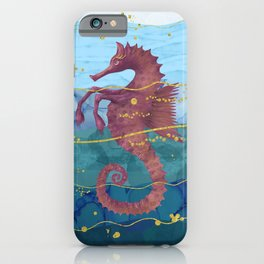 The Fantastic Seahorse in the Ocean- A Surrealist Hippocampus Horse iPhone Case