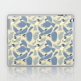Chickadees  in Blue Laptop & iPad Skin