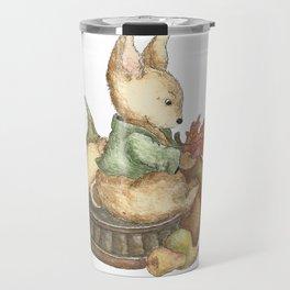 Vintage rabbit Travel Mug