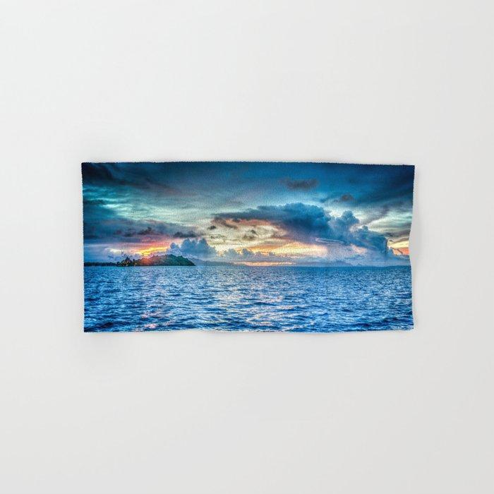 Bora Bora Polynesia sunset Hand & Bath Towel