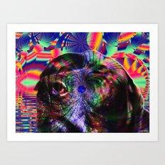 Black Lab Nose Art Print