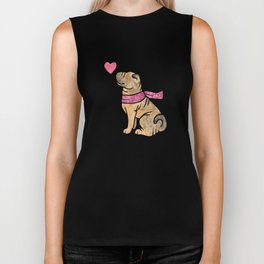 Watercolour Shar Pei Biker Tank