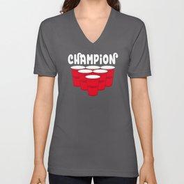 Beer Pong Champion Unisex V-Neck
