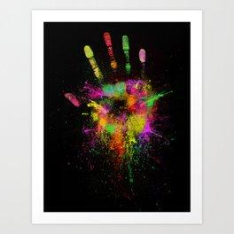 Artist Hand Art Print