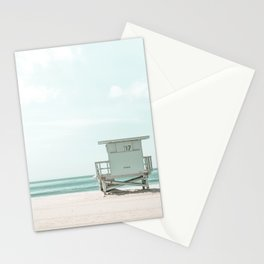 Lifeguard Tower, Beach, Ocean Art Print By Synplus Stationery Cards