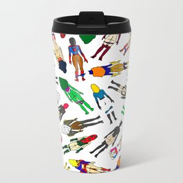 Superhero Butts - Girls - Row Version Metal Travel Mug