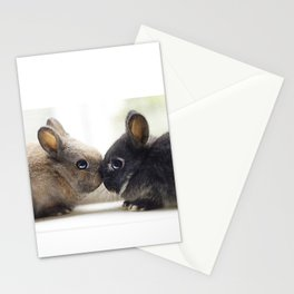 baby bunnies Stationery Cards