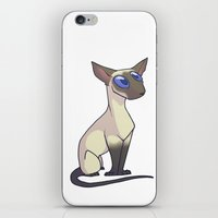 western iPhone & iPod Skins featuring Western Siamese by Suzanne Annaars