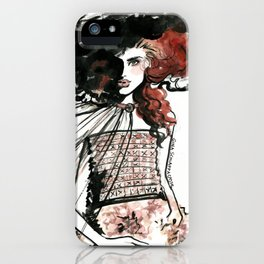 With Her Head in the Clouds iPhone Case