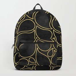 BLACK AND GOLD DROPS MARBLE Backpack