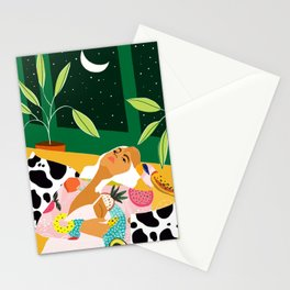 Moon Lover #illustration #feminism Stationery Cards