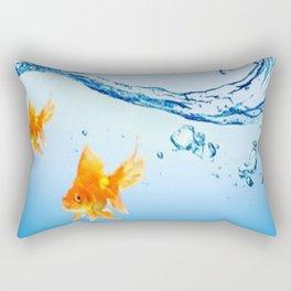 GOLDFISH AQUARIUM WATER ART Rectangular Pillow