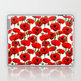 Red Poppy Pattern Laptop & iPad Skin