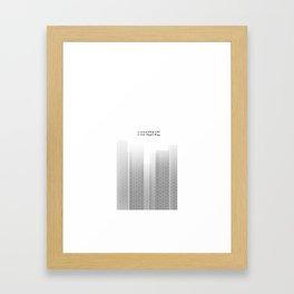 Seigaiha column Framed Art Print