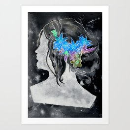 Perfil Series: Stencil 1 (Grey Wash and Color 1--Inverted) Art Print