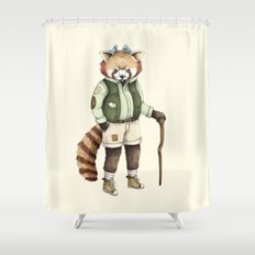 Red Panda Ranger Shower Curtain