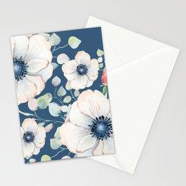 Summer Flowers Blue #society6 #buyart Stationery Cards