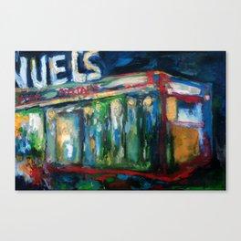 The Gaslight Lounge, Oil On Canvas Canvas Print