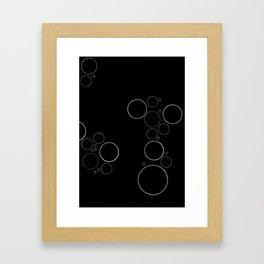 Bubbles on Black Framed Art Print