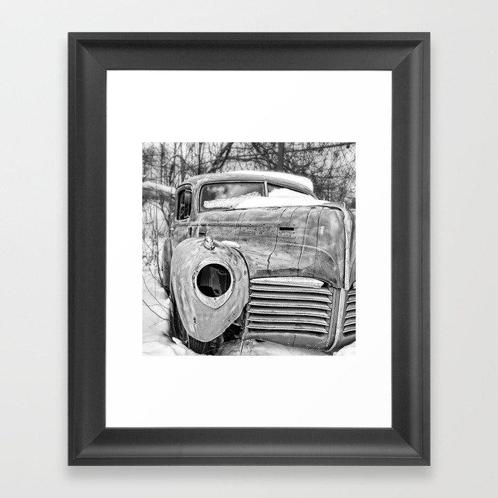 Old Hudson in the Snow Framed Art Print