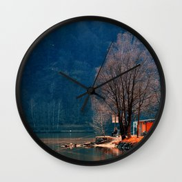 Gone fishing | waterscape photography Wall Clock