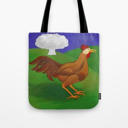 Rooster of the Apocalypse: Year of the Fire Rooster Tote Bag