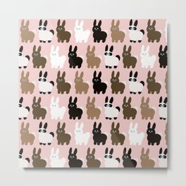 Spring bunny rabbits Metal Print