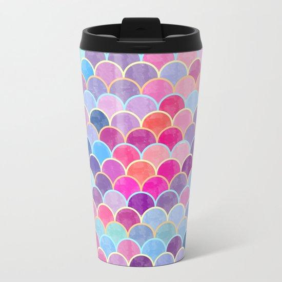 Watercolor Lovely Pattern VIII Metal Travel Mug