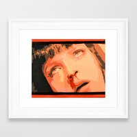 mia wallace Framed Art Prints featuring Mia Wallace by yayanastasia