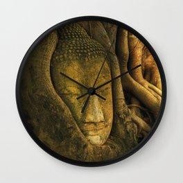 Buddha - Ayutthaya - Thailand Wall Clock