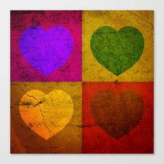 FOUR HEARTS FOR VALENTINE'S DAY Canvas Print