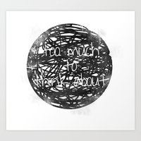 Too Much to Think About! Art Print