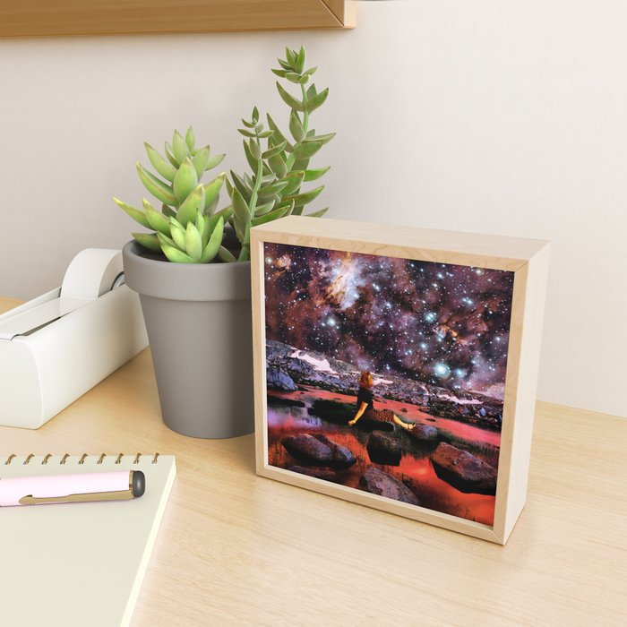 Cosmic reflexion Framed Mini Art Print