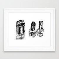 nail polish Framed Art Prints featuring Nail Polish by BUMMERAMA