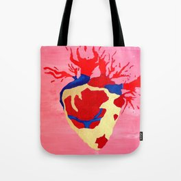 Cool Golden Heart Original Painting On Canvas Tote Bag