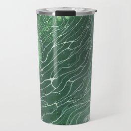 Ripples in green Travel Mug