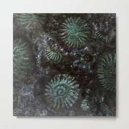 Ammonites and Trilobites Metal Print