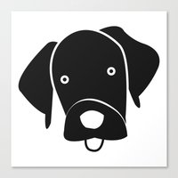 labrador Canvas Prints featuring Labrador by anabelledubois