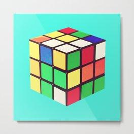 Do You Even Cube, Bro?  |  Rubik's Metal Print