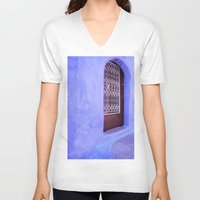 greek V-neck T-shirts featuring Greek Blues by Steve P Outram