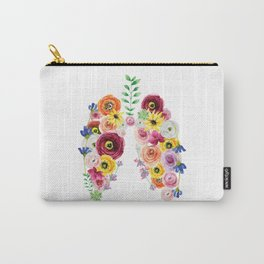 Floral Lungs Carry-All Pouch