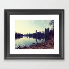 Chicago Reflected Skyline From The North Framed Art Print